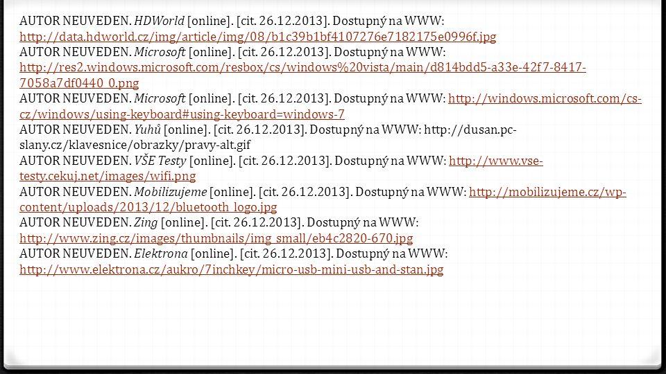 AUTOR NEUVEDEN. HDWorld [online]. [cit. 26. 12. 2013]